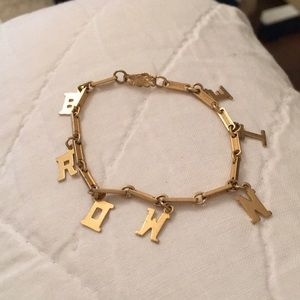 1950s vintage Brownies gold link girl's bracelet